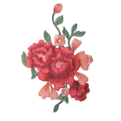 Peony Applique Patches Cloth Appliques Embroidery Applique DIY Sew on Patches