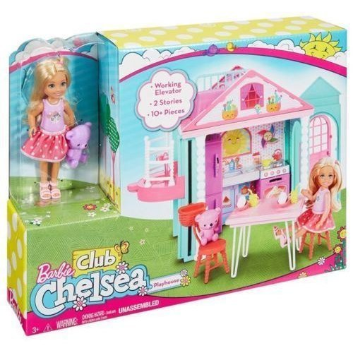 Barbie Club Chelsea Doll Playhouse with accessories Play house Girl Toy