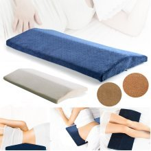 Memory Foam Sleeping Lumbar Pillow Waist Back Support Pad Pain Relief Cushion