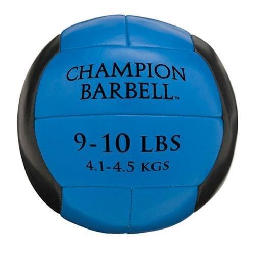 Champion Barbell Medicine Ball 9 10 lb Blue