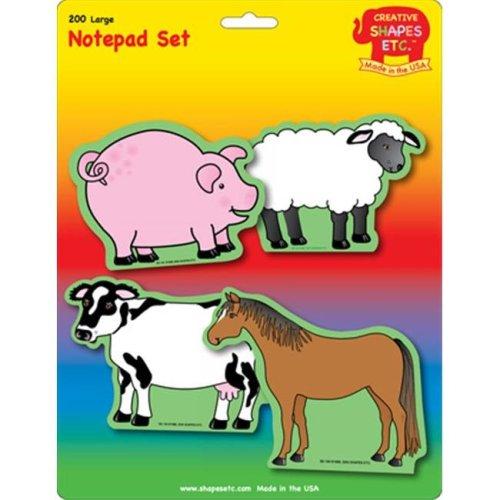 Farm Animals Set Large Notepad