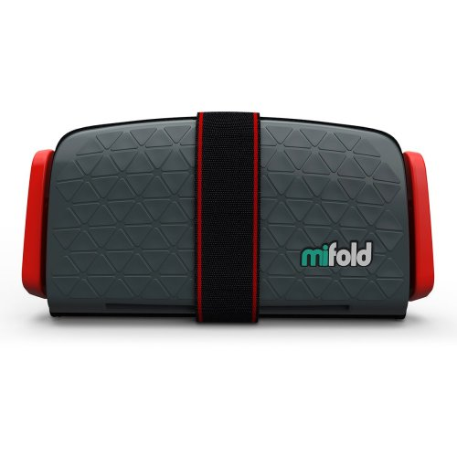 (Slate Grey) mifold Grab-And-Go Booster Cushion | Compact Booster Seat