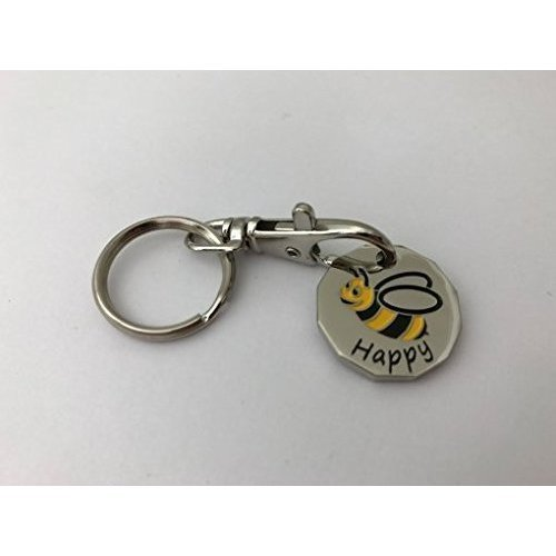 12 Sided Bumble Bee Trolley Token Keyring