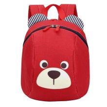 Anti-lost Kindergarten Backpack Cute Dog Shoulder Bag Children School Bag-Red