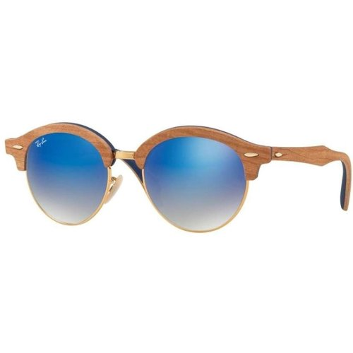 Ray-Ban Wood Iridium Round Sunglasses - RB4246M-11807Q-51
