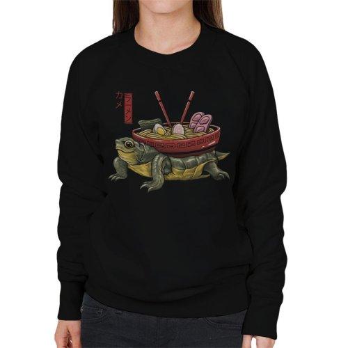 (XX-Large) Kame Ramen Turtle Women's Sweatshirt