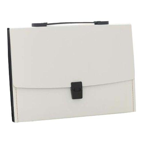 13 Pockets Portable File Holder A4 Document Organizer Information Bag-W