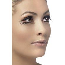Smiffy's Eyelashes Tainted Sparkle And Garden -  eyelashes fancy dress false black sparkle fever fake accessory glue top bottom