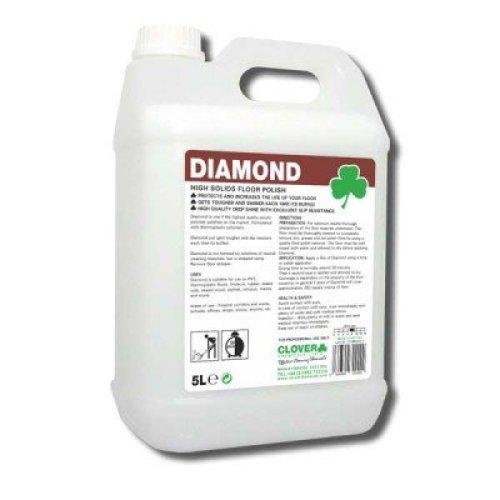 Clover Diamond 5Ltr Acrylic Floor Polish Deep Gloss High Quality Slip Resistant