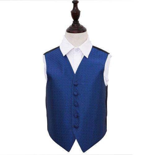 Royal Blue Greek Key Wedding Waistcoat for Boys 28'