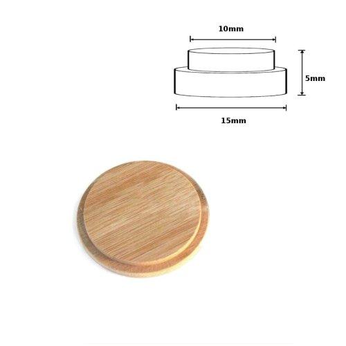 Wooden Round Cover Cap Oak 15x10x5mm