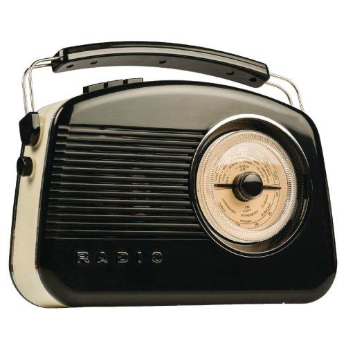 Konig Dab Fm Am Stylish Retro Radio - Tr900bl - Black