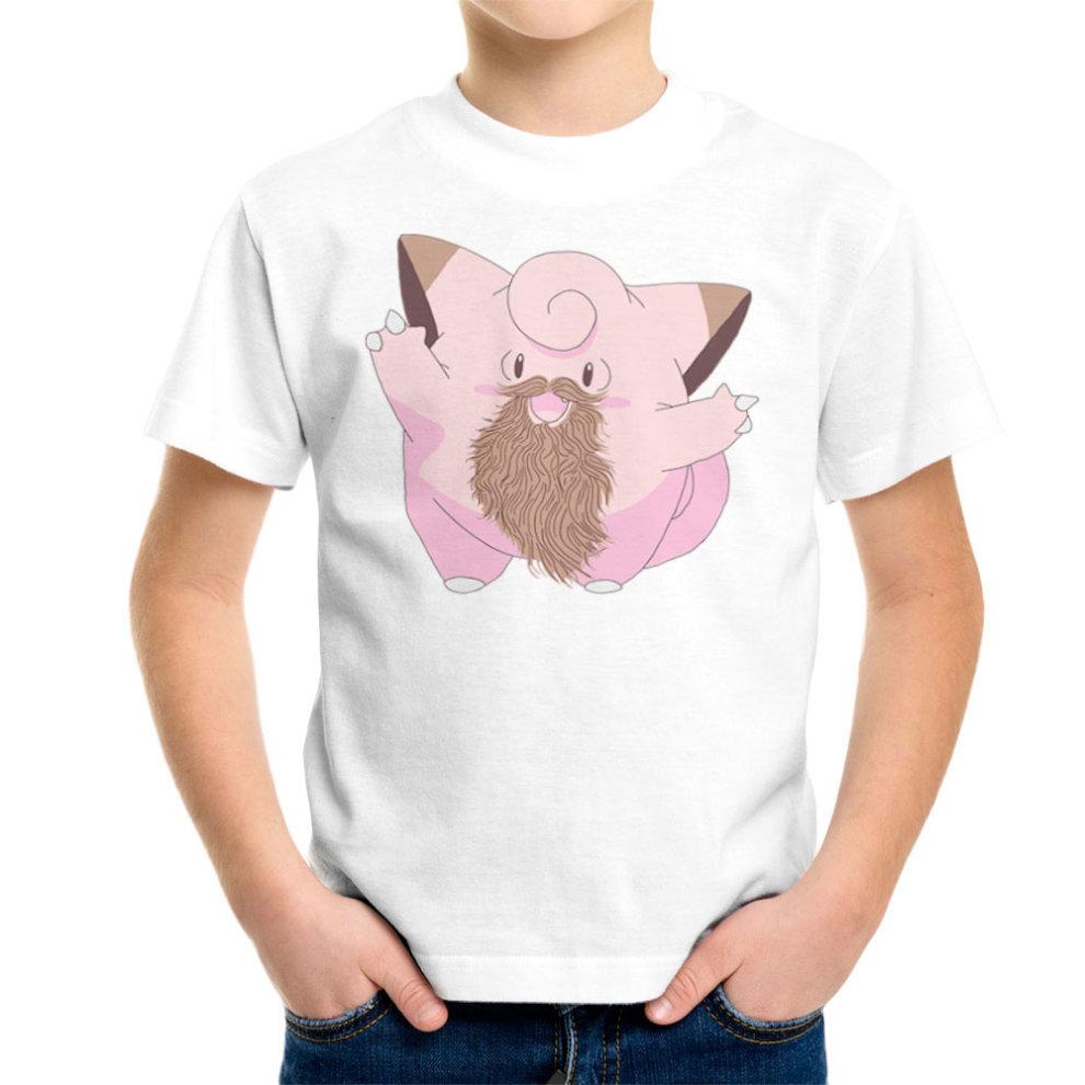 3e075007 Beardemon Clefairy Pokemon Beard Kid's T-Shirt on OnBuy
