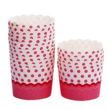 80 Count Home Cute Baking Cups Cupcakes Cases Cupcakes Cup, Pink Dots
