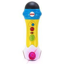 Fisher Price Music - Microphone/Karaoke - Music Rappin' Recording Microphone - Sing, Record & Playback -  Designed for Kids
