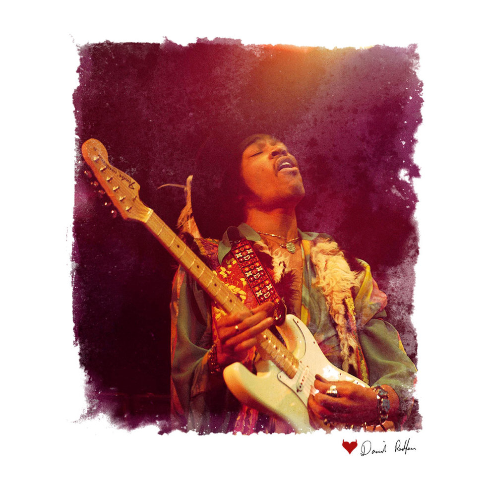 519deb89d ... David Redfern Official Photography - Jimi Hendrix At The Royal Albert  Hall 1969 Soloing White Men's ...