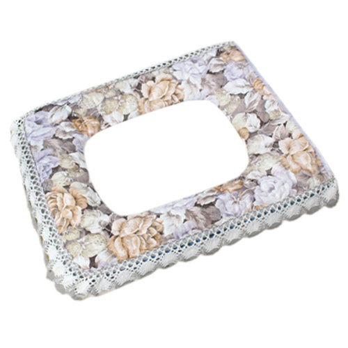 Fashion Thicken Toilet Lid/Toilet Seat Cover,Square Warmer Soft Cushion Lace A