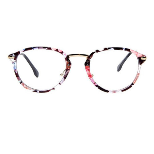 Retro Fashion Round Glasses Frames for Men and Women-Floral