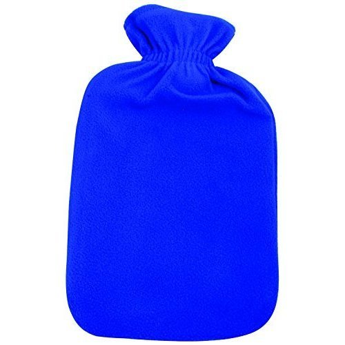 Finesse Finesse Fleece Covered Hot Water Bottle x -  fleece covered hot water bottle pvc ribbed assorted colour