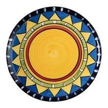 2 Pcs Cartoon Sun Hand-painted Ceramic Dessert Plate Pastry Tray