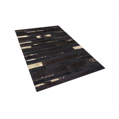 Rug - Carpet - Cowhide Rug - Patchwork -   - Brown and Gold - ARTVIN
