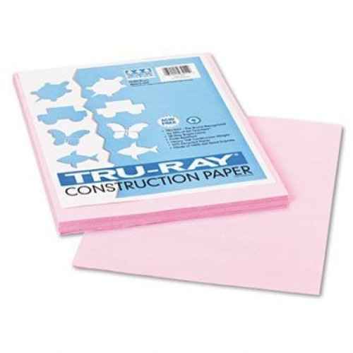 "Recycled Fade-Resistant Construction Paper, 76#, 9""x12"", Pink, 50/Pack PAC103012"