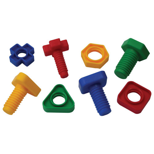 Bigjigs Toys Educational Pairing Nuts and Bolts - 128 Pieces