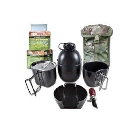 BCB CN004BM Crusader Cooking System Black 8 Piece Multicam Pouch