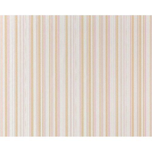 EDEM 967-23 Luxury stripe non-woven wallpaper classic style sand beige| 10.6 sqm
