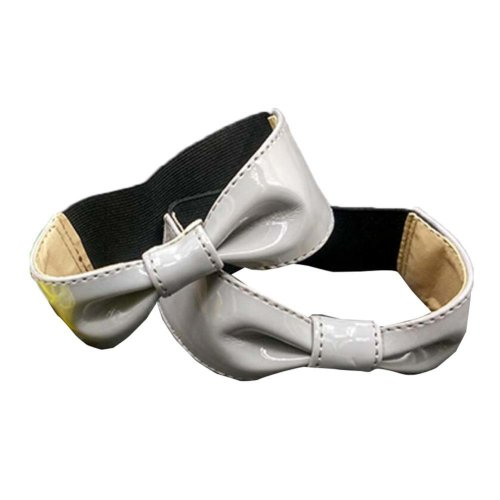 Grey Elastic Shoe Straps - Bowknot Shape Design
