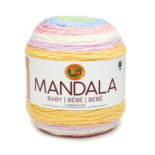Lion Brand Yarn Company 526-213 Mandala Baby, Neverland, Acrylic, 13.97 x 13.97 x 11.43 cm