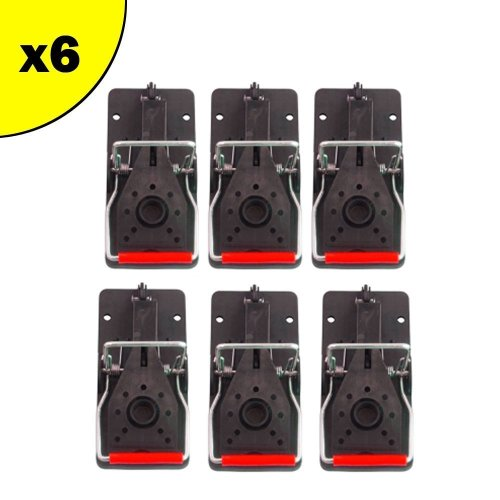 TRAPEAZE MOUSE TRAP - PACK OF 6 - BEST PEST CONTROL - REUSABLE AND EASY TO USE - BEST HUMANE KILL FOR MICE AND RODENTS - SUITABLE FOR INDOOR AND...