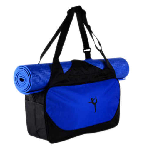 Outdoor Sport Bag Waterproof Training Yoga Bag Thicken Exercise Yoga Mat Bag-Deep Blue