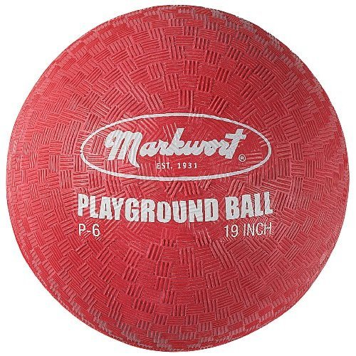 Markwort Playground Ball, Red, 6-Inch