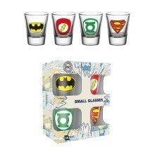 Dc Comics Logos Shot Glasses