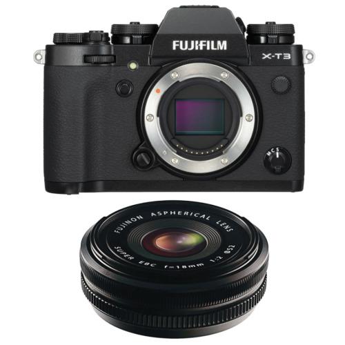FUJI X-T3 Black + XF 18MM F2 R Black