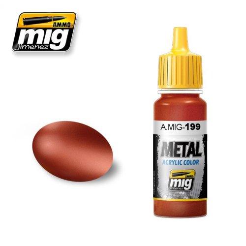 Mig Ammo Acrylic Metallic Paint (17ml) - Copper