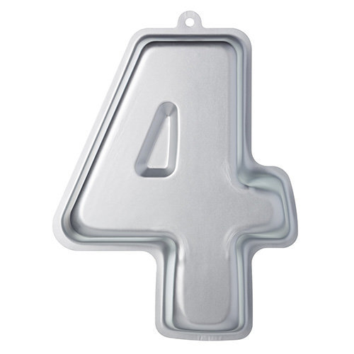KitchenCraft Sweetly Does It Novelty Number '4' Cake Tin (Four), 30 x 23.5 x 5 cm