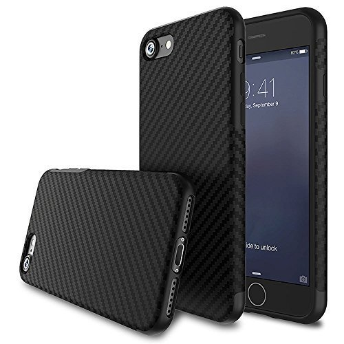 big sale b6f62 d5e7d For iPhone 5S Case/iPhone SE Case,L-FADNUT [Carbon Fiber Lines] TPU  Silicone Ultra Slim Back Case,Shock Absorbing Bumper Protective Case Cover  for...