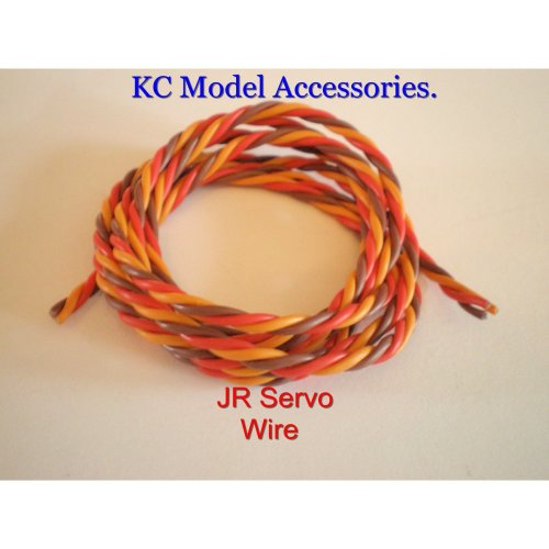 Servo Wire Silicone Cable 22awg JR- Hitec-Spektrum 3 Wire Twisted.