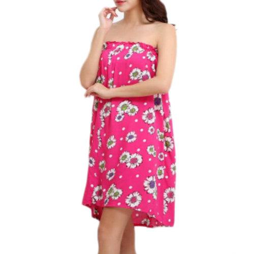 High-grade Thin Salon Khan Steam Bathrobe Bath Skirt Strapless Bathing Dress-A14