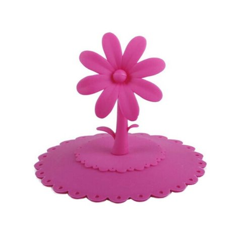 Leakproof Silicone Cup Lid with Good Resistance to High Temperature,Rose