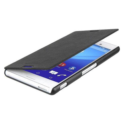 Genuine Official Roxfit Folio Book Case Flip Cover for Sony Xperia M4 - Black
