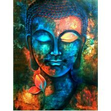 "Aluminium metal wall art ""Buddha"" bud02"