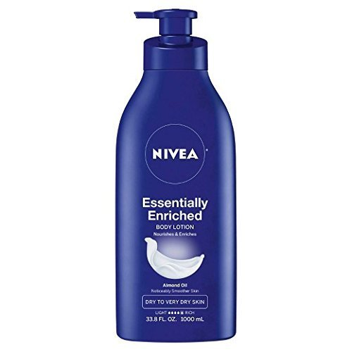 Nivea Essentially Enriched Body Lotion Almond Oil 338 fl oz (Pack of 2)