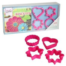 Biscuits & Cookies Recipe Book Gift Set - Lets Get Baking Cutters Mini -  lets get baking biscuits recipe book cutters mini gift set