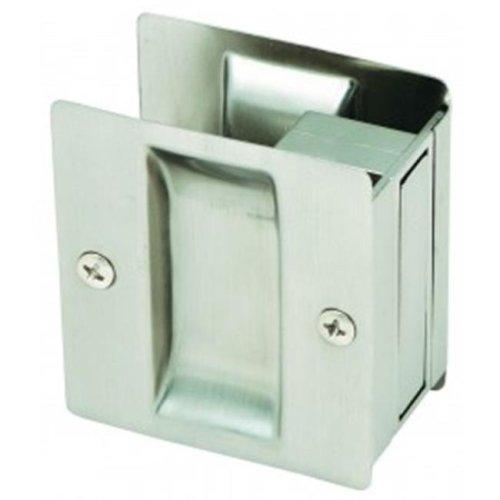 Rectangular Pocket Door Passage, Satin Nickel Finish