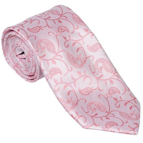 Coral Budding Paisley Wedding Tie #AB-T1003/1