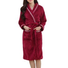 Casual Pajama Set Warm Sleepwear Women/Lovers Flannel Nightgown X-large-A5