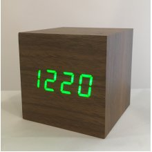 Wooden LED Box Clock | Sound-Activated Clock